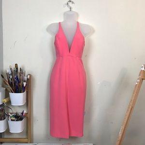 Bardot Sexy Salmon Pink Body Hugging Dress